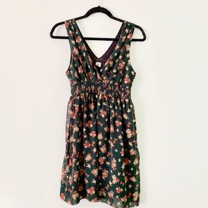A is for Audrey sleeveless floral dress